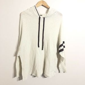 Free People Thermal Pullover Hoodie Top Oversize